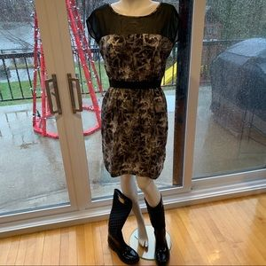 Animal Print black and gray dress Smartset…